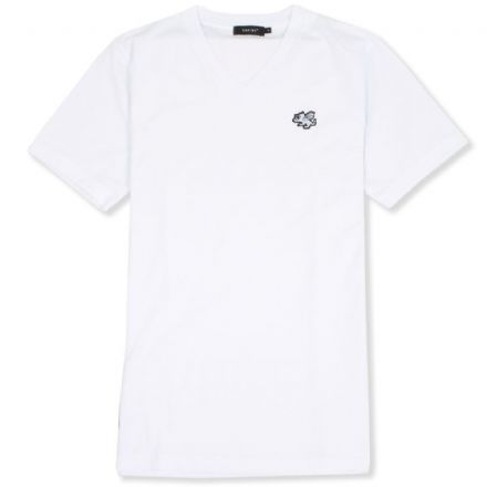 Senlak V-Neck Logo T-shirt - White